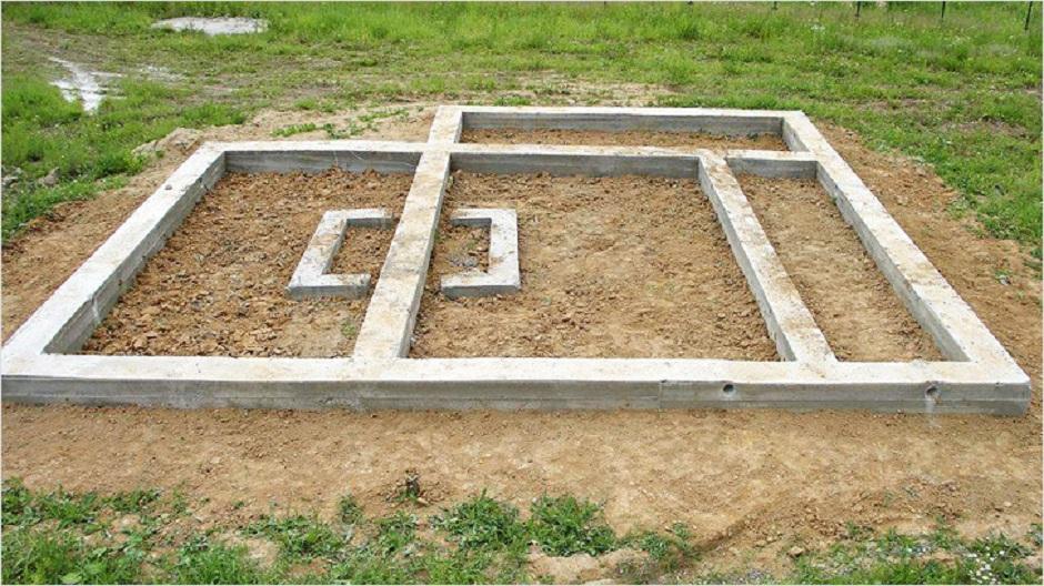 Пример ленточного фундамента