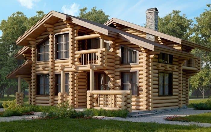 Правильный деревянный дом