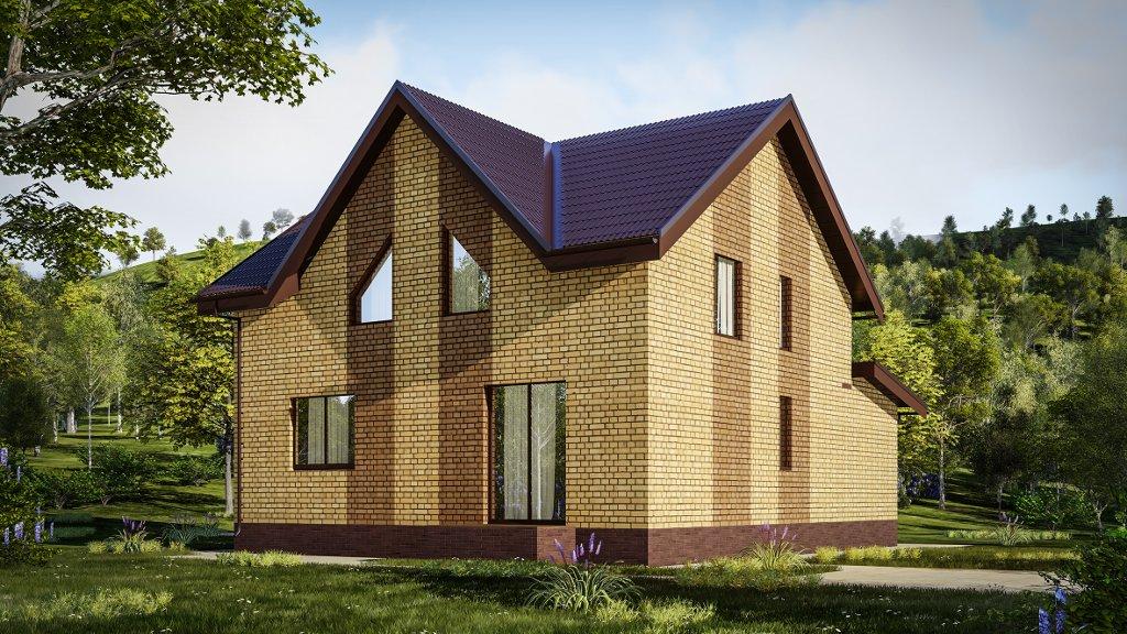 Так же у нас есть проект этого дома с другим типом крыши!