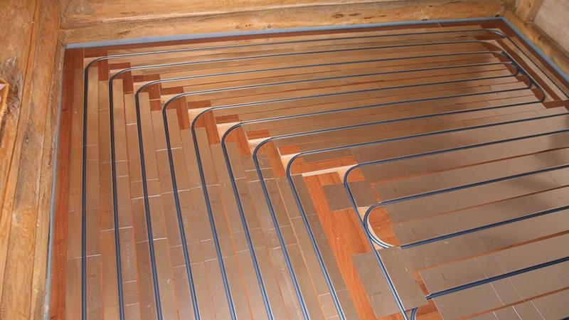 Тёплые полы водяные в деревянном доме